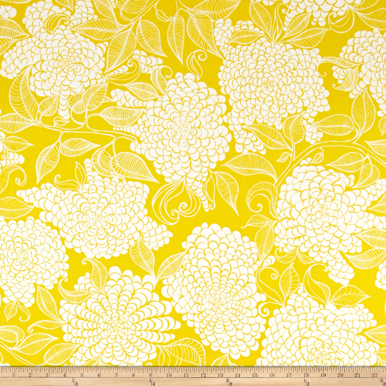 Kaufman Mystic Canvas By Valori Wells Floral Bouquet Curry Fabric by Kaufman in USA