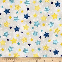 To The Moon & Back Stars Allover Gray