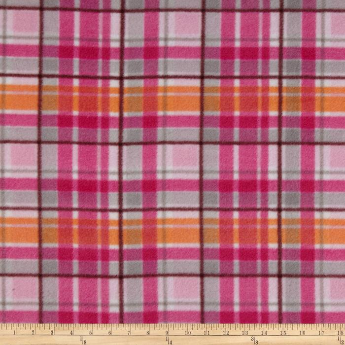 Fleece Plaids Pink/Orange
