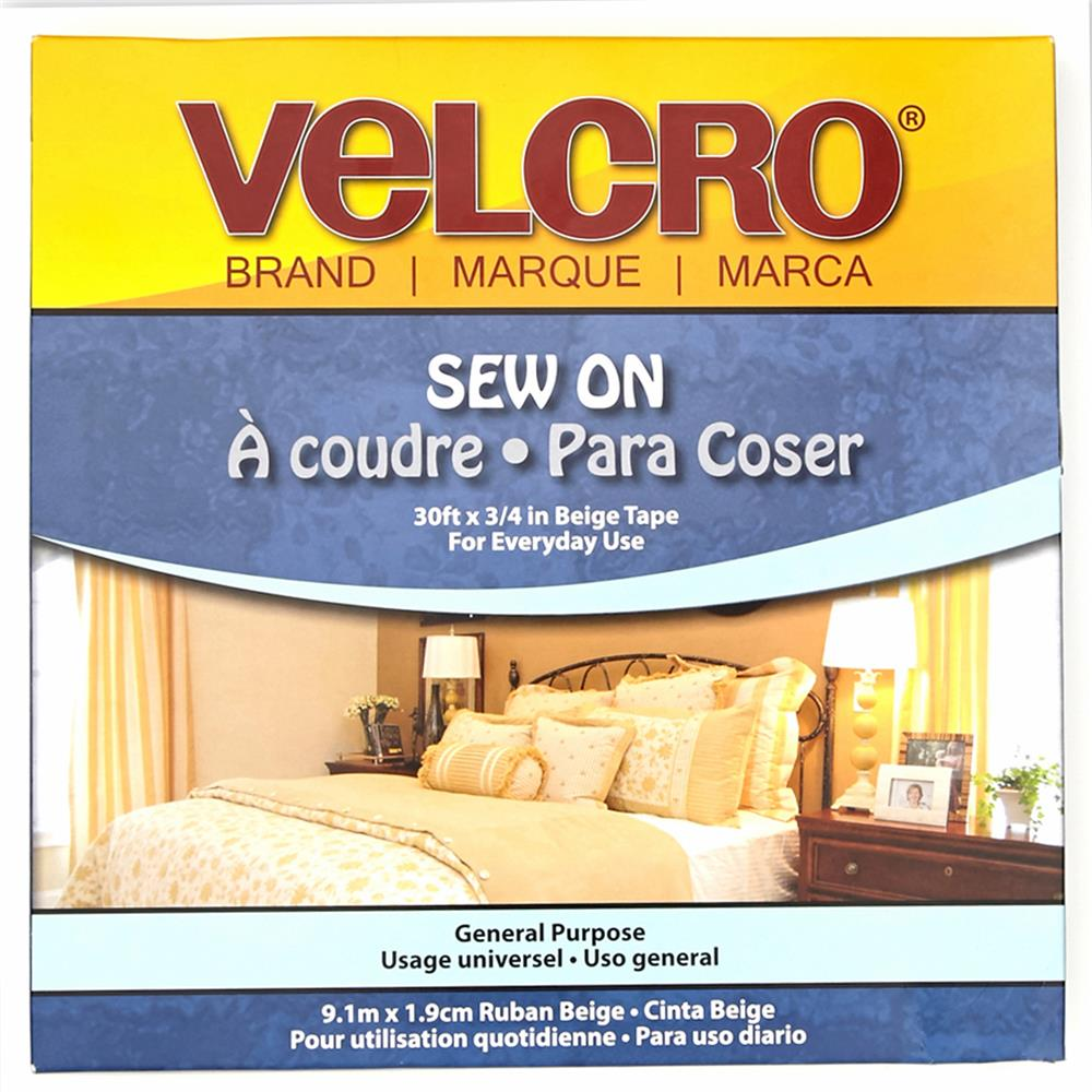 Velcro Brand Sew-On Tape 3/4'' Beige - By
