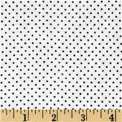 Cotton Lawn Print Micro Dots Black/White