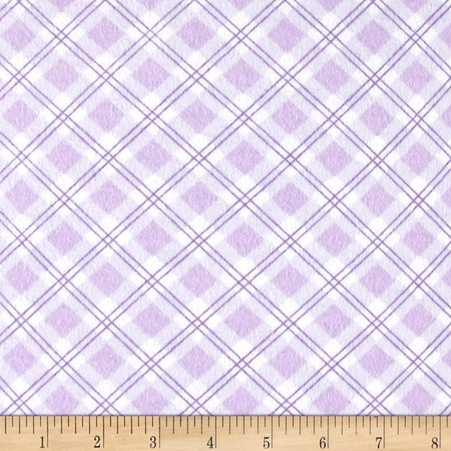 Small Argyle Flannel Lilac Fabric By The Yard