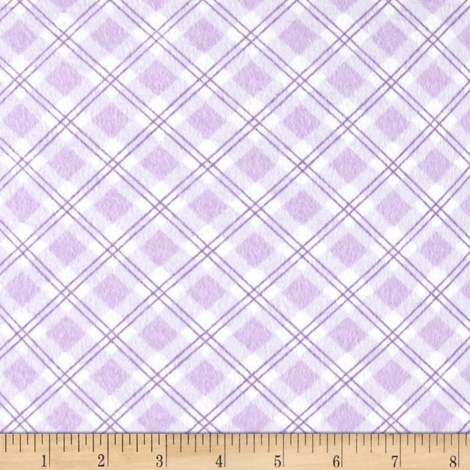 Small Argyle Flannel Lilac Fabric by Newcastle in USA