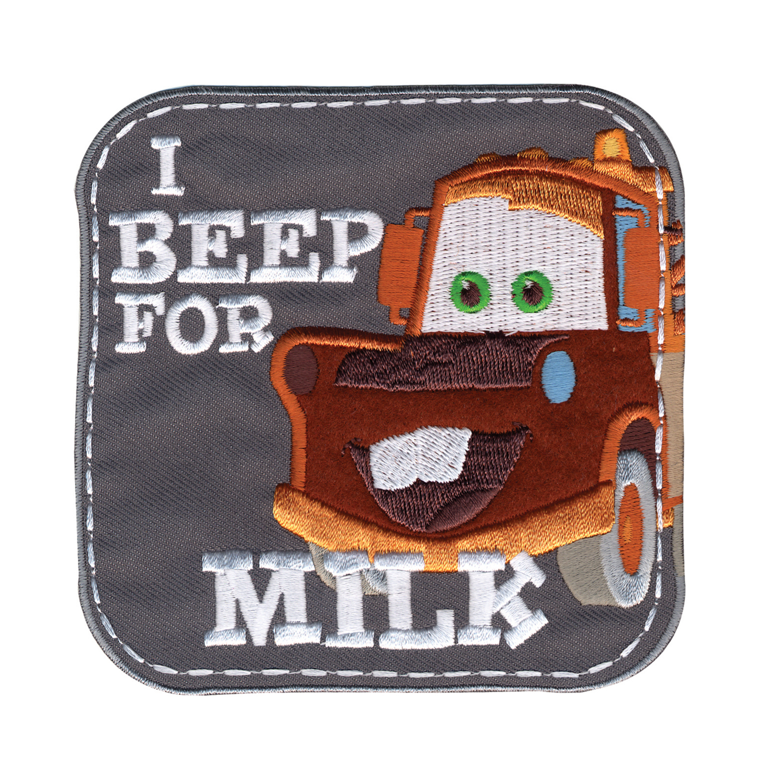 Disney Cars Mater I Beep For Milk Iron On Applique by Notions Marketing in USA