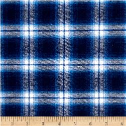 Yarn Dyed Flannel Plaid Indigo