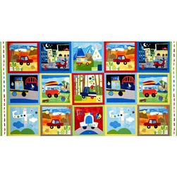 On Track Patchwork Panel Multi