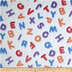 Minky ABC White/Multi