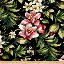 Covington Cammi Floral Twill Rouge Fabric