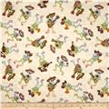 Fabric Fiesta Mariachi Skeletons Cream