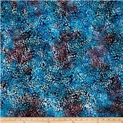 Anthology Batik Rosebuds Blue/Navy