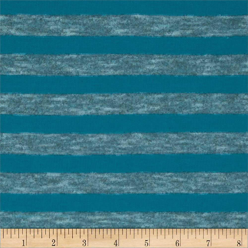 Yarn Dyed Hatchi Knit Stripe Aqua