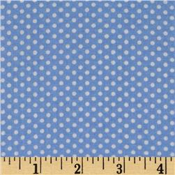 Spring Showers Dots Blue/Ivory