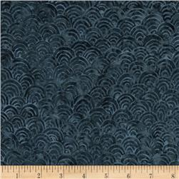 Timeless Treasures Tonga Batik Ebony Scallop Storm