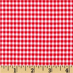 Moda Celebration Gingham Check Red