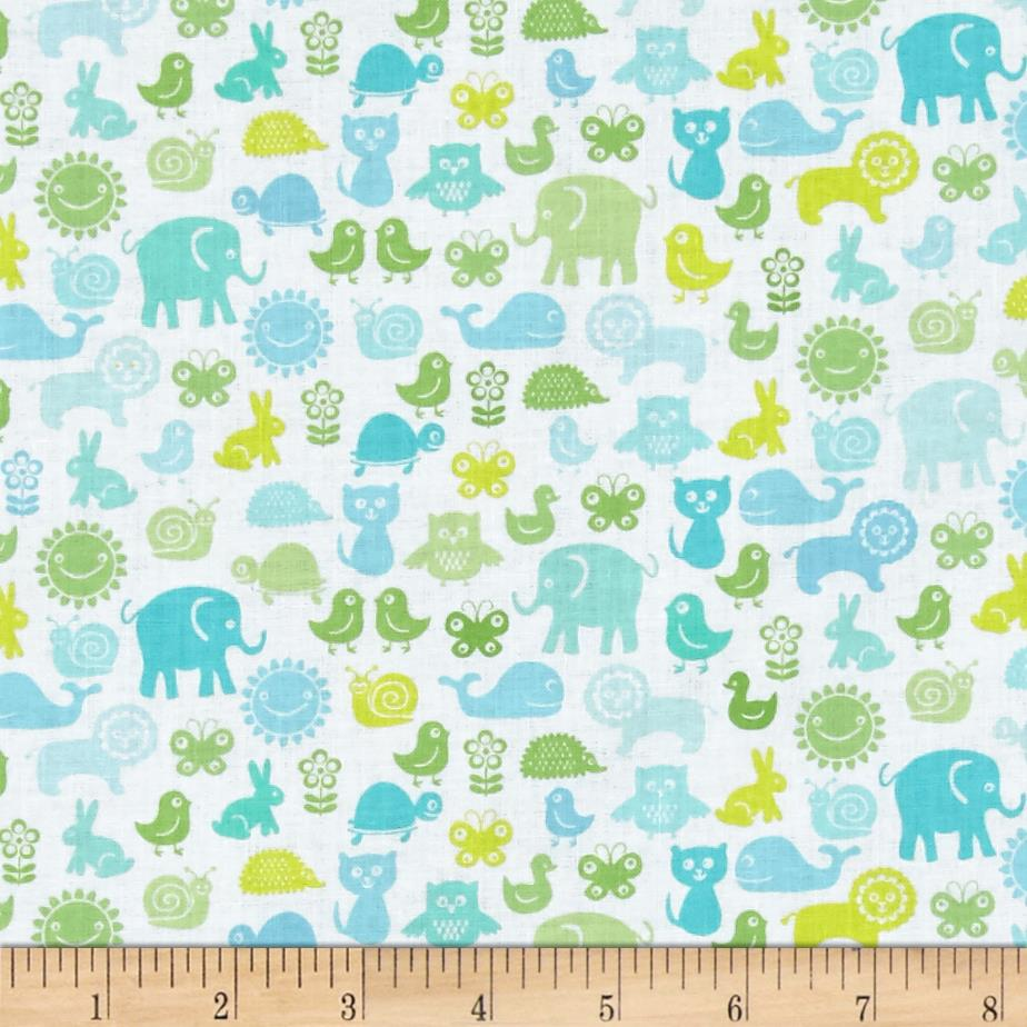 Contempo Owls And Pals Animal Pals Light Green/Multi
