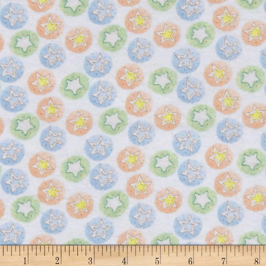 Bedtime Bears Star Dreams Flannel Blue/Multi
