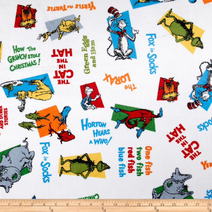 Celebrate Seuss! Minky Cuddle Silly Stories Celebration Fabric