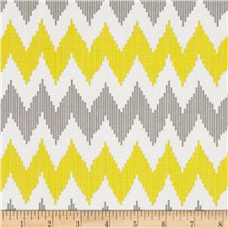 Design Studio Pinstripe Chevron Yellow