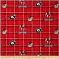 Collegiate Cotton Broadcloth University of Georgia Plaid Red