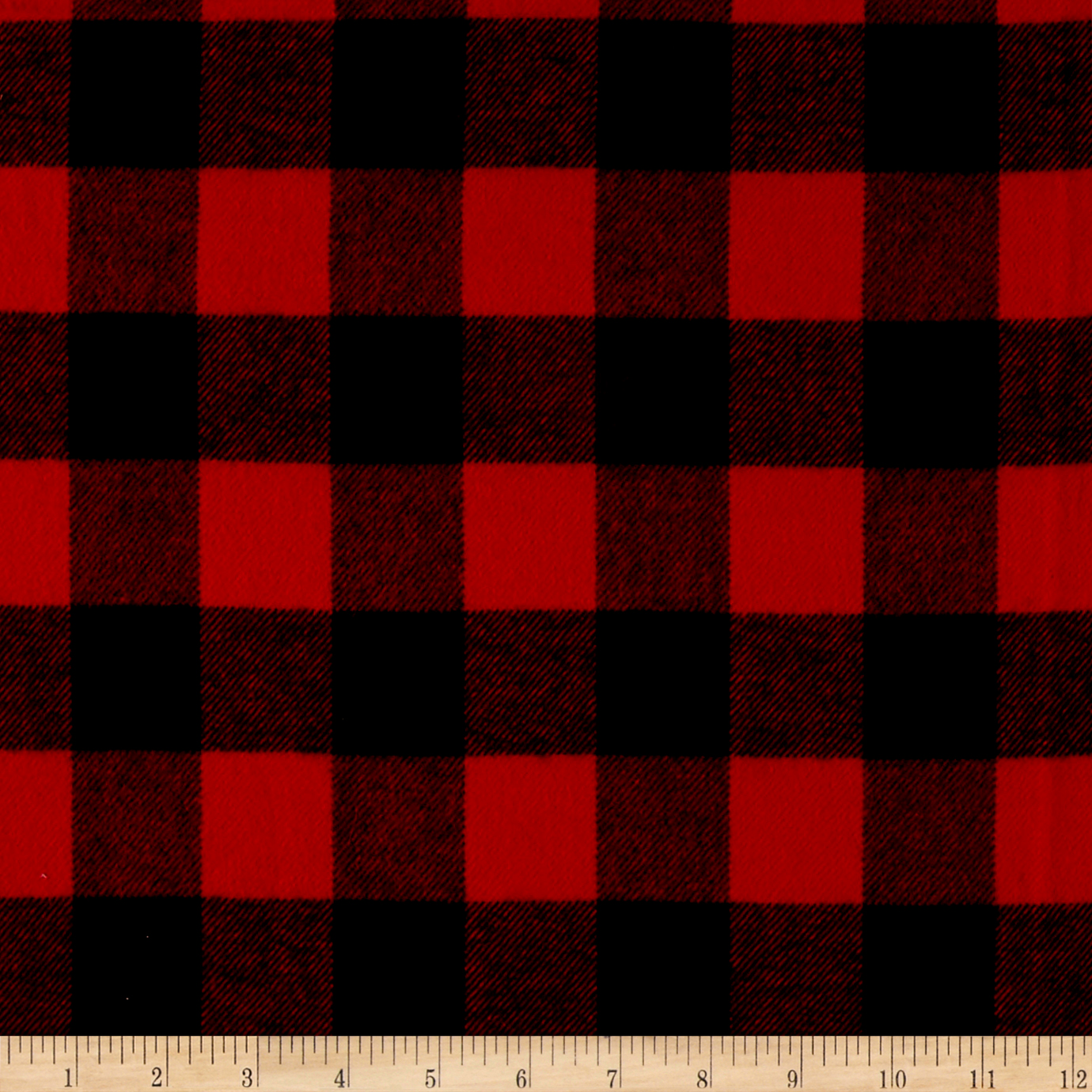 Primo Plaids Classics Flannel Buffalo Check Red Fabric by Marcus in USA