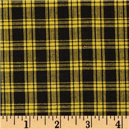 Yarn-Dyed Plaid Shirting Black/Gold