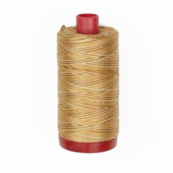 Aurifil 12wt Variegated Embellishment and Sashiko Dreams Thread Creme Brule