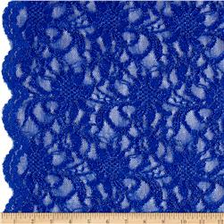 Glitter Embossed Lace Floral Royal