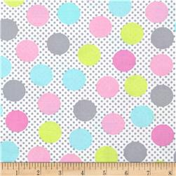 Michael Miller Cute Zoo Adorable Dots Multi Fabric