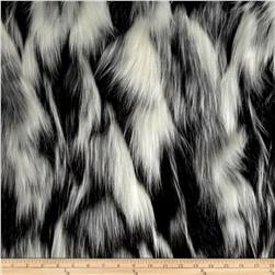 Luxury Faux Fur Tibetan Sand Fox White/Pewter