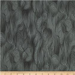Friends in Wild Places Wood Grain Gray