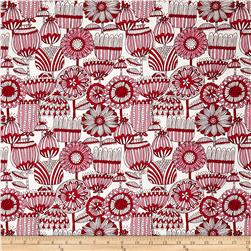 Moda Just Another Walk In The Woods Funny Flower Red/Cream