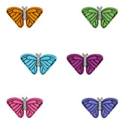 Dress It Up Embellishment Buttons  Butterflies At Sunset