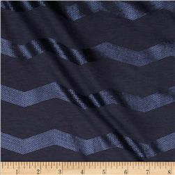Soft Jersey Knit Sequin Chevron Slate