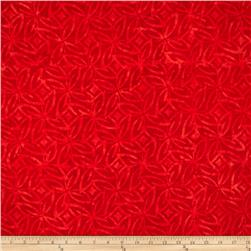 Timeless Treasures Tonga Batik Pinata North Star Red