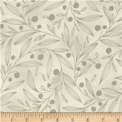 Flutter Berry Branches Taupe Fabric