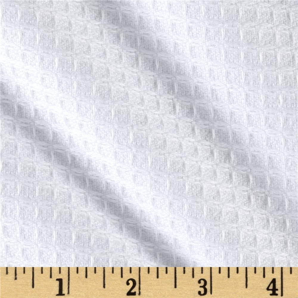 Waffle Chenille Terry Cloth Cuddle White Fabric By The Yard