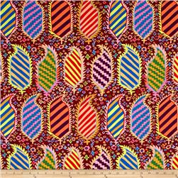 Kaffe Fassett Collective Striped Herald Maroon