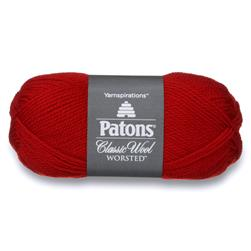 Patons Classic Wool Yarn (00230) Bright Red