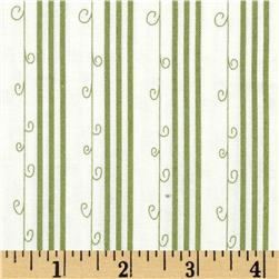 Moda Mistletoe Lane Stripe Whisper White/Sage
