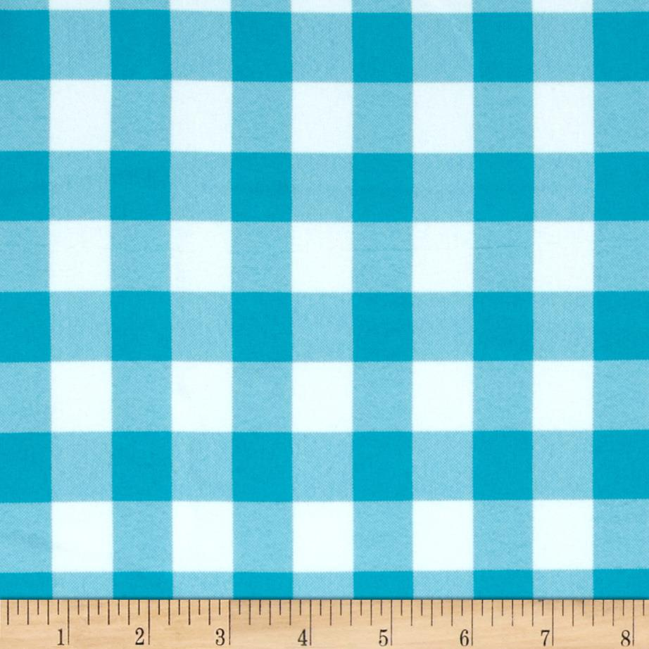 60'' Table Checks Turquoise