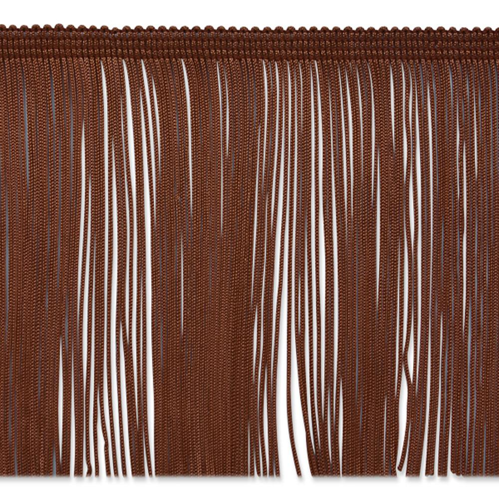 "6"" Chainette Fringe Trim Chocolate"