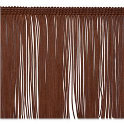 6'' Chainette Fringe Trim Chocolate