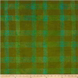 Alison Glass Handcrafted Batiks Chroma Plaid Olive