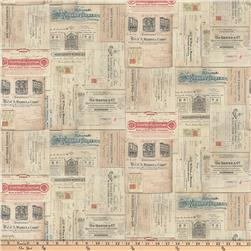 Tim Holtz Dapper Vintage Receipts  Multi