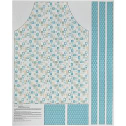 Riley Blake Ooh La La Adult Apron Panel Aqua