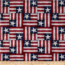 American Homecoming Flag Patchwork Americana