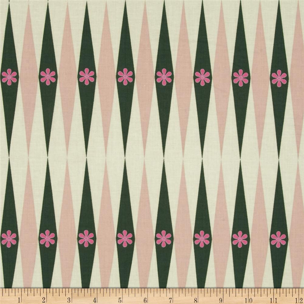 Cotton + Steel Playful Backgammonish Green