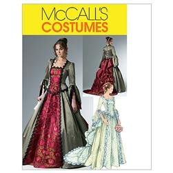 McCall's Misses' Victorian Costume Pattern M6097 Size AA0