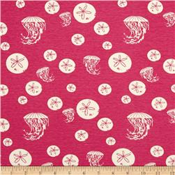 Birch Organic Maritime Interlock Knit Sand Dollar And Jelly Pink
