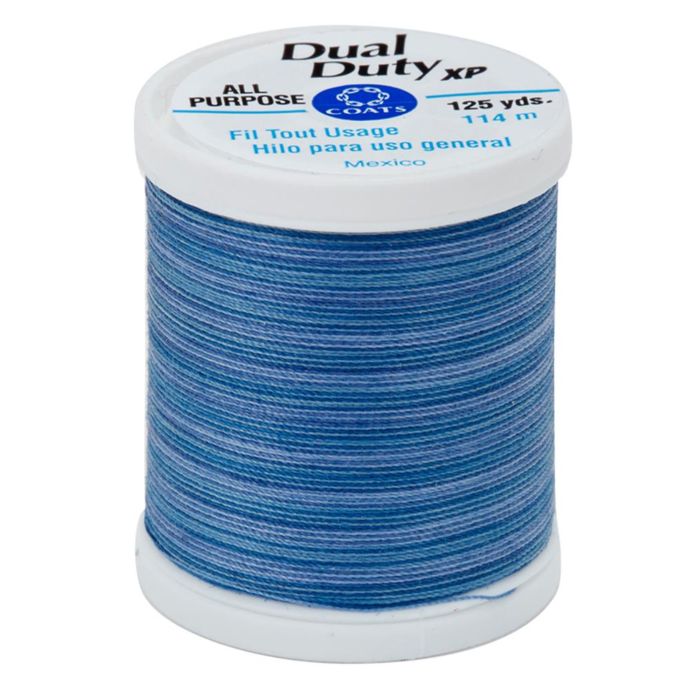 Coats & Clark Dual Duty XP 125yd Variegated Blue Clouds